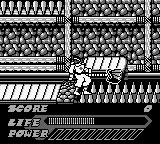 Mighty Morphin Power Rangers: The Movie Game Boy Conveyors and spikes, a game this be for sure.
