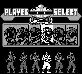Mighty Morphin Power Rangers: The Movie Game Boy Ranger select... no sure which ranger this is...