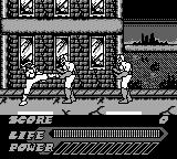 Mighty Morphin Power Rangers: The Movie Game Boy A kick to the stomach.