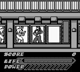 Mighty Morphin Power Rangers: The Movie Game Boy In a building.
