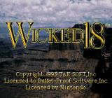 True Golf Classics: Wicked 18 SNES Title screen