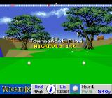 True Golf Classics: Wicked 18 SNES The tourney begins.