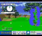 True Golf Classics: Wicked 18 SNES The 1st hole