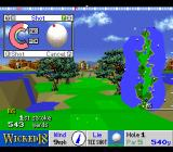 True Golf Classics: Wicked 18 SNES Swing meter being filled.