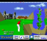 True Golf Classics: Wicked 18 SNES The green is in view.