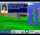 True Golf Classics: Wicked 18 SNES The layout of the green