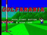 Golfamania SEGA Master System Title screen