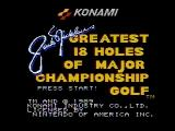 Jack Nicklaus' Greatest 18 Holes of Major Championship Golf NES Title screen