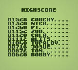 Nobody Shooter Windows The high score list