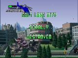 Rampage 2: Universal Tour Nintendo 64 Salt Lake City is totally destroyed.