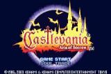 Castlevania: Aria of Sorrow Game Boy Advance EU Title Screen