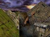 Tomb Raider: The Lost Artifact Windows a tricky backflip off a slanting wall..