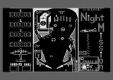 Night Mission Pinball Atari 8-bit Inserting a quarter (lower right).