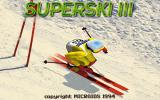 SuperSki III DOS Title Screen