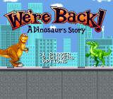 We're Back!: A Dinosaur's Story SNES Title screen