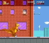 We're Back!: A Dinosaur's Story SNES Loitering by a building.