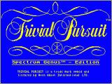 Trivial Pursuit ZX Spectrum The screen while the game loads
