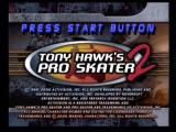 Tony Hawk's Pro Skater 2 Dreamcast Title Screen