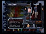 Tony Hawk's Pro Skater 2 Dreamcast Player Selection