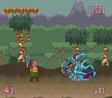 Power Piggs of the Dark Age  SNES The first level boss