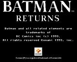 Batman Returns Amiga Title screen.