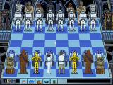The Software Toolworks' Star Wars Chess DOS Starting board layout