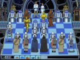 The Software Toolworks' Star Wars Chess DOS C-3PO sallies forth to engage the AT-ST