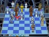 The Software Toolworks' Star Wars Chess DOS An AT-ST puts R2 into standby mode