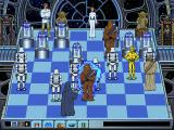 Star Wars Chess DOS The Emperor shocks Chewbacca