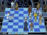 Star Wars Chess DOS Princess Leia engages a Stormtrooper