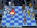 Star Wars Chess DOS A Stormtrooper disengages R2D2