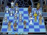 The Software Toolworks' Star Wars Chess DOS Princess Leia captures Boba Fett