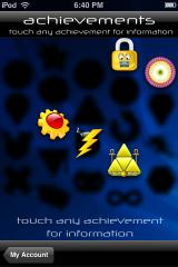 Trism iPhone You can check out what kind of achievements you've unlocked.