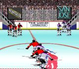 Wayne Gretzky and the NHLPA All-Stars SNES Skate to the team you want to play as.