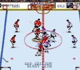 Wayne Gretzky and the NHLPA All-Stars SNES A circle is around who the player controls.