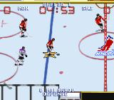 Wayne Gretzky and the NHLPA All-Stars SNES Skating with the puck.