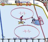 Wayne Gretzky and the NHLPA All-Stars SNES Shoot out practice - controlling the shooter.