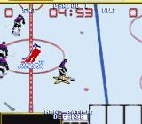 Wayne Gretzky and the NHLPA All-Stars SNES Team practice is just your team versus an opposing goalie.