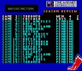 Wayne Gretzky and the NHLPA All-Stars SNES A team's season schedule