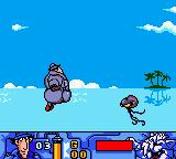 Inspector Gadget: Operation Madkactus Game Boy Color Gadget can't swim, but he float like a manatee.