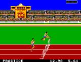 Olympic Gold: Barcelona '92 Game Gear Running the hurdles.