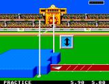 Olympic Gold: Barcelona '92 Game Gear Set the bar height for the pole vault.