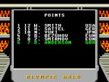 Olympic Gold: Barcelona '92 Game Gear The point standings after the sprint