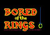 Bored of the Rings Amstrad CPC Title screen