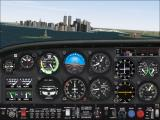 Microsoft Flight Simulator 2000 Windows Buzzing NY in the Cessna 182R - Twin Towers still standing.