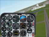 Microsoft Flight Simulator 2000 Windows Buzzing DC in the Bell JetRanger helicopter