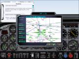 Microsoft Flight Simulator 2000 Windows Kneeboard and map showing victor airways