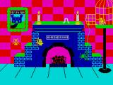 Jack and the Beanstalk ZX Spectrum Climbing up the fireplace.