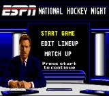 ESPN National Hockey Night SNES Options before the game begins.