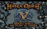 King's Quest V: Absence Makes the Heart Go Yonder! Amiga Title screen